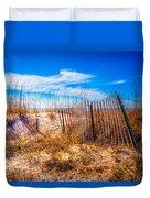 Blue Sky Over The Dunes Duvet Cover