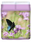 Blue Swallowtail Butterfly  Duvet Cover