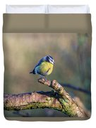 Bluetit On A Branch Duvet Cover