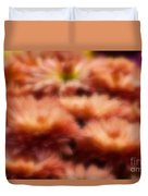 Blurred Seasonal Flowers With Yellow Background Duvet Cover