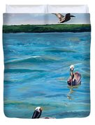 Boating In Fort Myers Duvet Cover