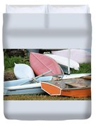 Boats Boats And More Boats Duvet Cover