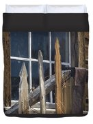 Bodie Picket Fence And Window Duvet Cover