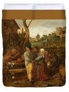 Boer Fisticuffs Duvet Cover