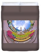 Bolzano Main Square Planet Perspective Panorama Duvet Cover
