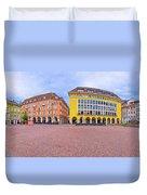 Bolzano Main Square Waltherplatz Panoramic View Duvet Cover