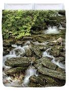 Boone Fork Falls Duvet Cover