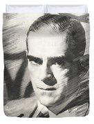Boris Karloff, Vintage Actor Duvet Cover