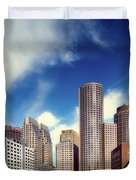 Boston Skyline 1980s Duvet Cover