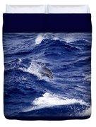 Bottlenose Dolphin Tursiops Truncatus Duvet Cover