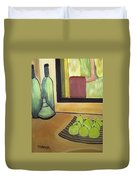 Bottles And Pears No 2 Duvet Cover