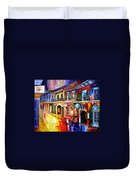 Bourbon Street Red Duvet Cover by Diane Millsap