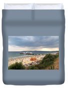 Bournemouth Pier And Beach Duvet Cover