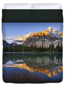 Bow Lake And Crowfoot Mountain Duvet Cover