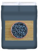 Bowl Of Fresh Blueberries Duvet Cover