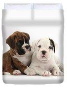 Boxer Puppies Duvet Cover