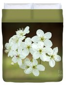 Bradford Pear Flower Duvet Cover
