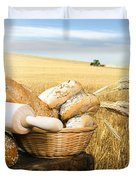 Bread And Wheat Cereal Crops Duvet Cover