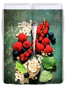 Breakfast With Oats And Berries Duvet Cover