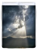 Breaking The Clouds Duvet Cover