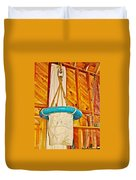 Breeches Buoy In Sleeping Bear Point Boathouse In Sleeping Bear Dunes National Lakeshore-michigan Duvet Cover