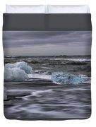 Brethamerkursandur Iceberg Beach Iceland 2155 Duvet Cover
