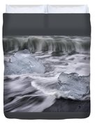 Brethamerkursandur Iceberg Beach Iceland 2588 Duvet Cover