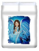 Brianna Little Angel Of Strength And Courage Duvet Cover