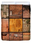 Bricks Collage  Duvet Cover
