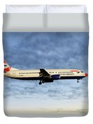 British Airways Boeing 737-436 Duvet Cover