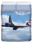 British Airways Boeing 787 Dreamliner Duvet Cover