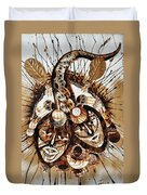 Brothers At War Duvet Cover