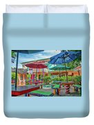 Bubble Room Restaurant - Captiva Island, Florida Duvet Cover