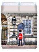 Buckingham Palace Queens Guard Art Duvet Cover