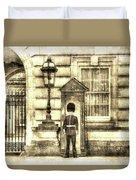 Buckingham Palace Queens Guard Vintage Duvet Cover