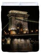 Budapest At Night. Duvet Cover