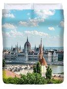 Budapest Skyline Duvet Cover