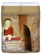Buddha In A Niche Duvet Cover