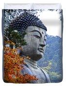 Buddha In Autumn Duvet Cover