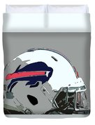 Buffalo Bills Football Team Ball And Typography Duvet Cover