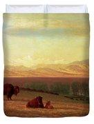 Buffalo On The Plains Duvet Cover