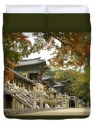 Bulguksa Buddhist Temple Duvet Cover