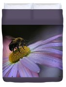 Bumble Bee On Flower Duvet Cover