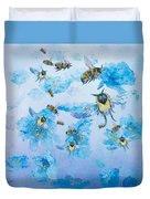 Bumble Bees Duvet Cover