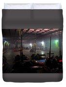 Bumper Cars In Fog Duvet Cover