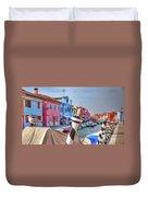 Burano Venice Italy Duvet Cover
