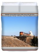 Burlington Northern Santa Fe Bnsf - Railimages@aol.com Duvet Cover