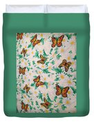 Butterflies And Daisies - 1 Duvet Cover