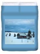 Cabin In The Snow Duvet Cover