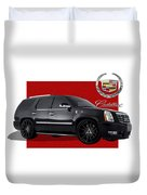 Cadillac Escalade With 3 D Badge  Duvet Cover
